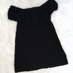 Young Fabulous & Broke YFB Black Flounce Dress